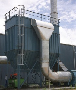 fabric filter also known as a dust collector
