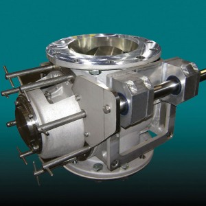 rotary airlock for pressure conveying systems
